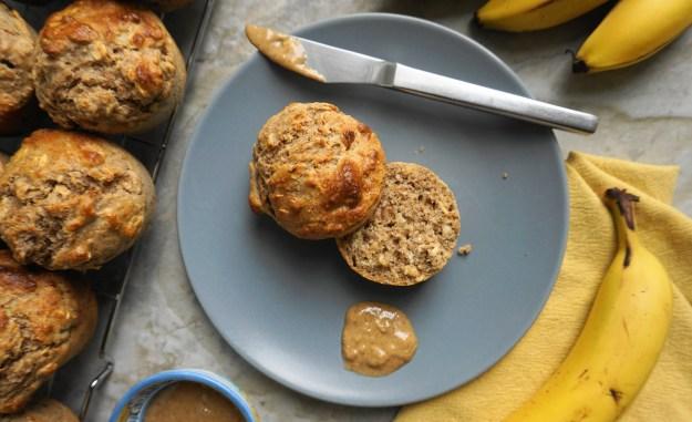 Peanut butter banana muffins plate 2