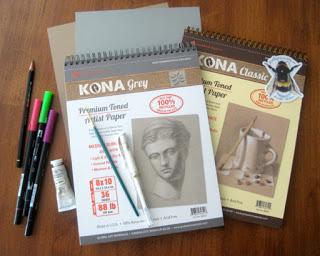 global arts materials Kona toned paper