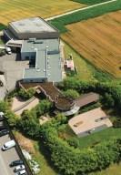 Ecco la maison Les Jardins De Gaia dall'alto