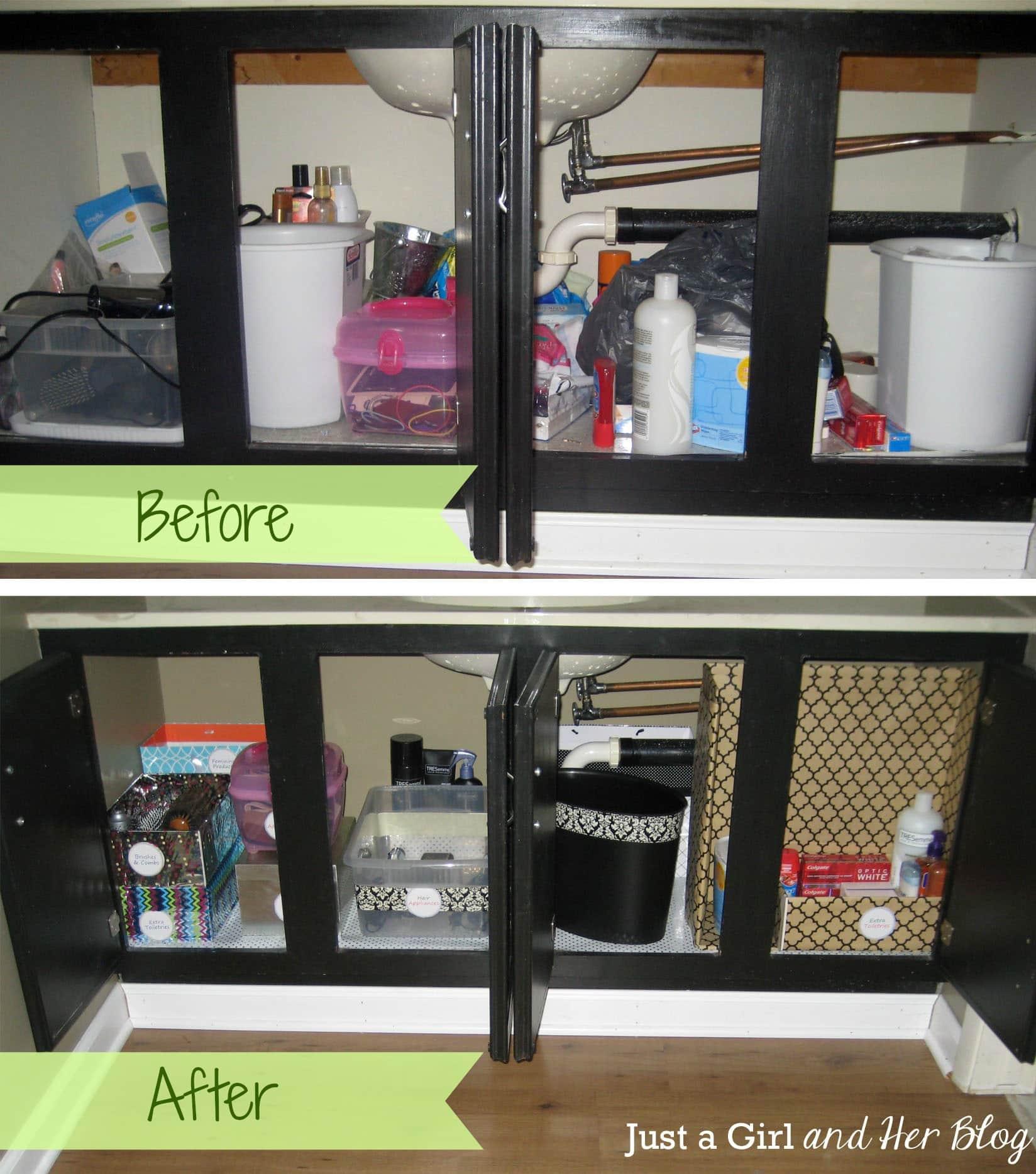0 Bathroom Cabinet Organization