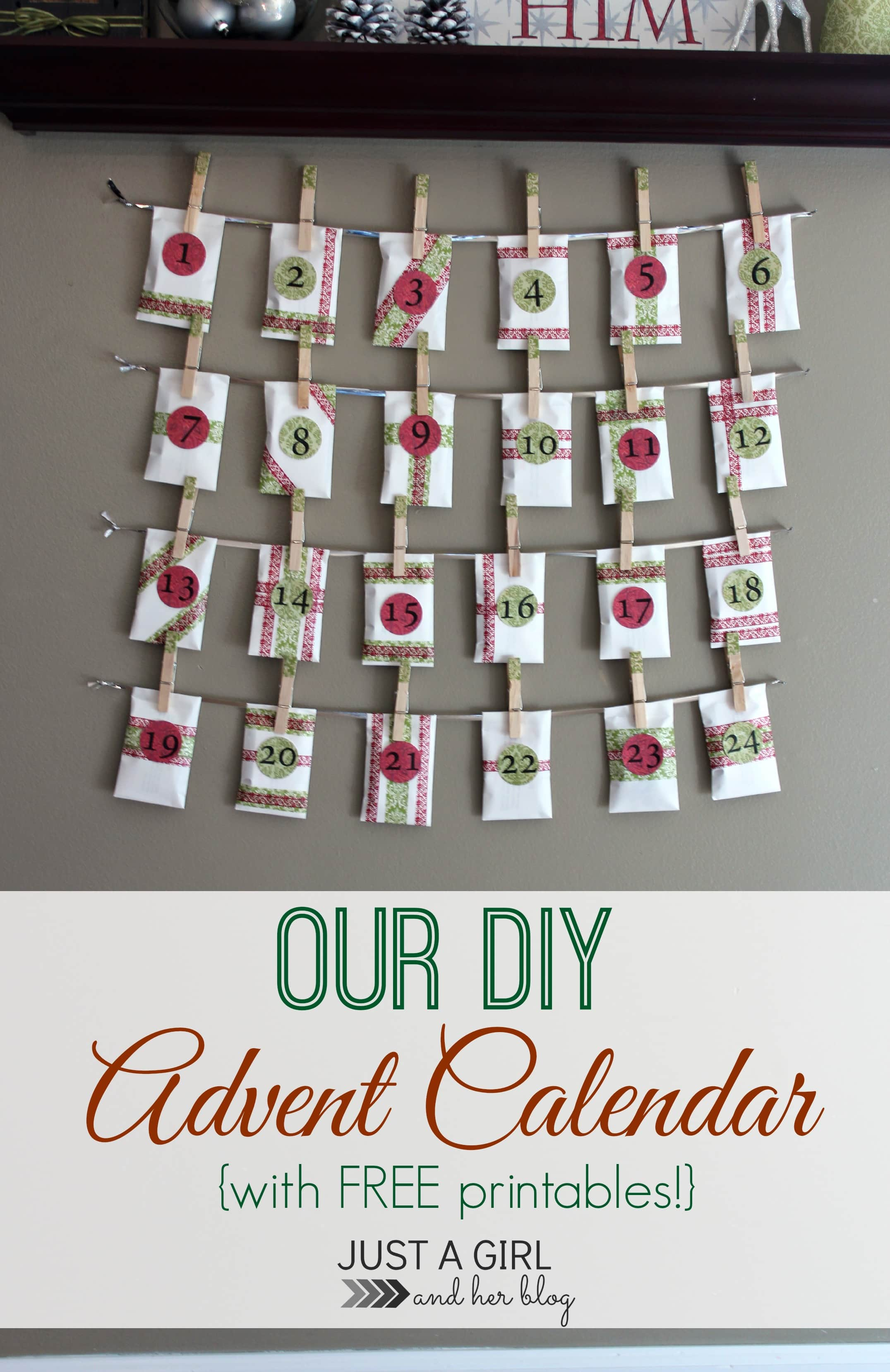 Our Diy Advent Calendar With Free Printables