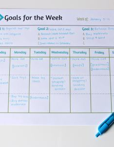 Goals sheet labeled also weekly printable free mom real rh mom real