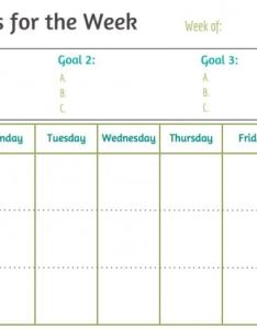 Goals for the week blank also weekly printable free mom real rh mom real