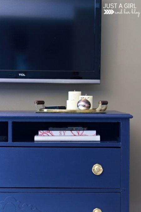Dresser to TV Stand Transformation | Just a Girl and Her Blog