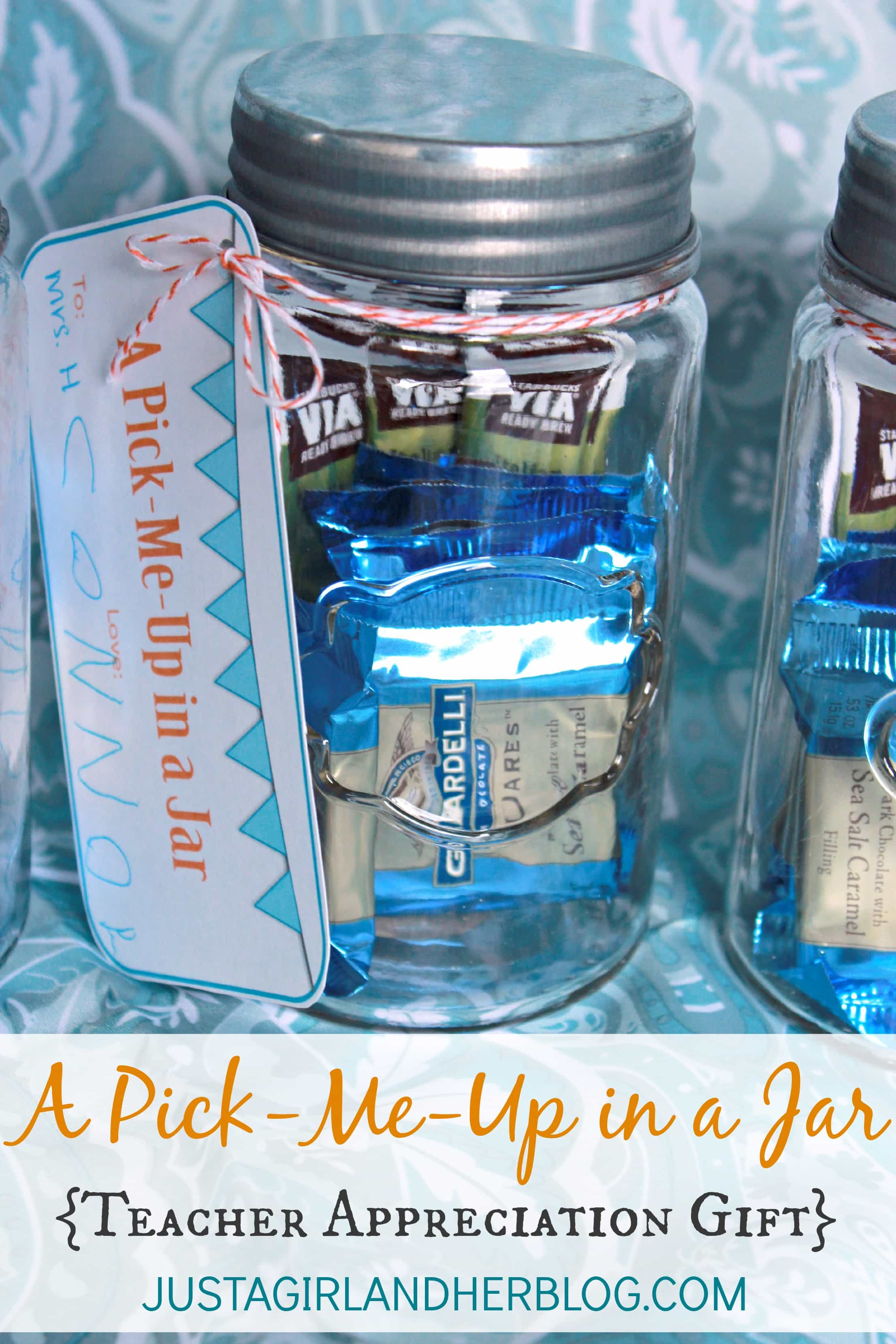 A Pick Me Up In A Jar Teacher Gift With FREE Printables