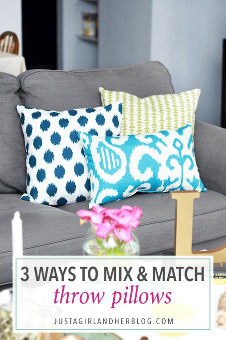 3 ways to mix and match throw pillows