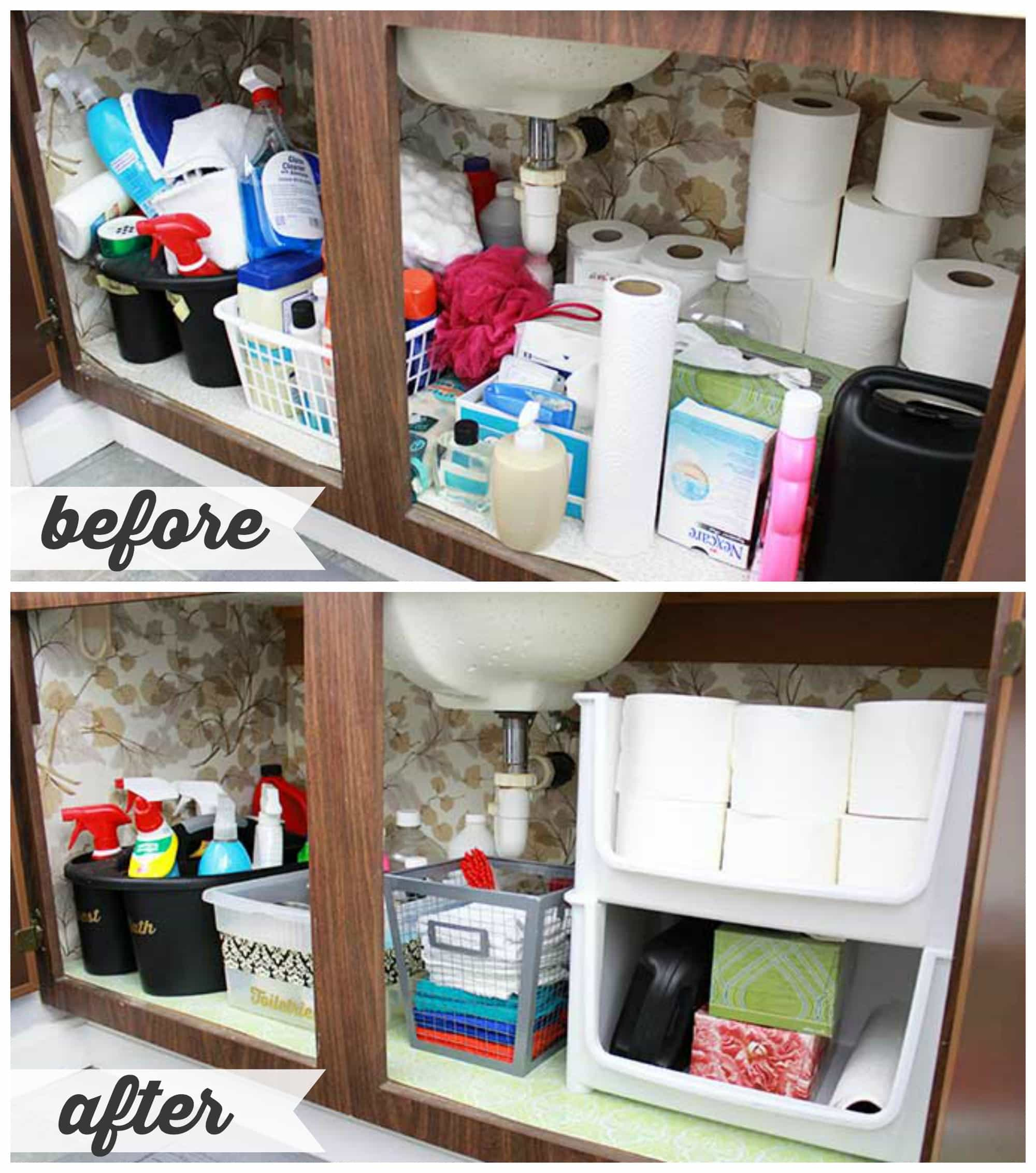 HighLow Bathroom Cabinet Organization  Just a Girl and