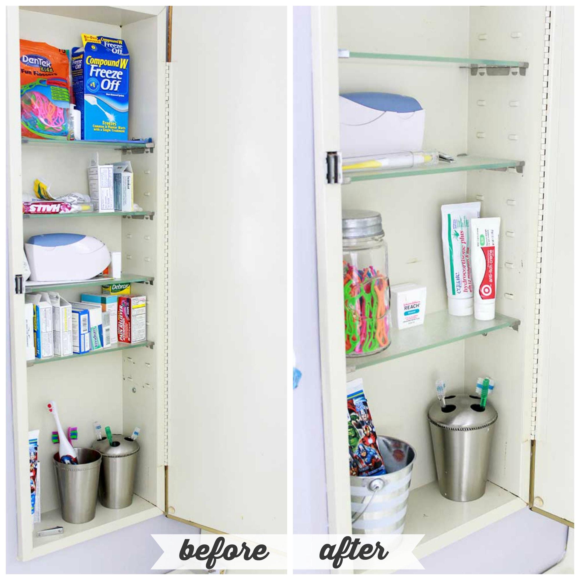 HighLow Bathroom Cabinet Organization  Abby Lawson