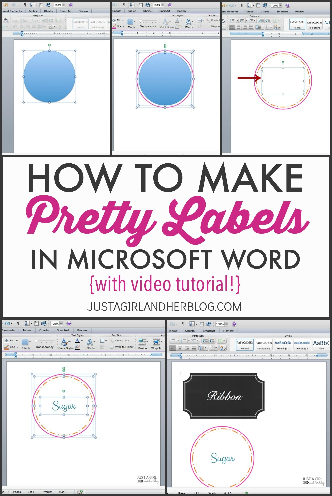 Video How To Make Pretty Labels In Microsoft Word