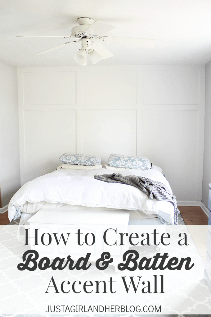 How to Create a Board and Batten Accent Wall  Just a Girl