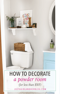 How to Decorate a Powder Room for Less than $50 - Just a ...