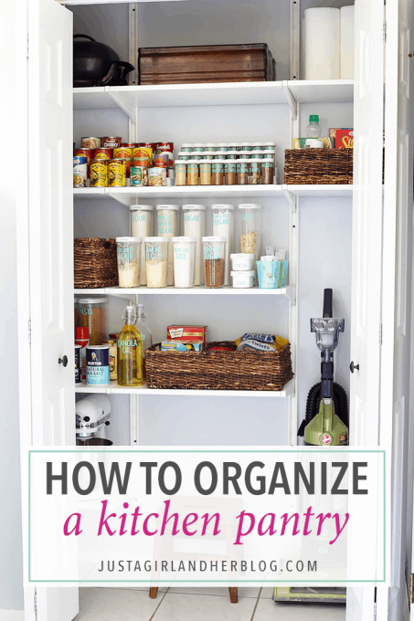 kitchen pantry ideas gray glass subway tile backsplash how to organize a just girl and her blog love this beautifully organized it gives me so many great for organizing