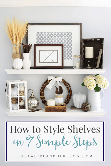 How to Style Shelves in 7 Simple Steps and My Fall Shelf