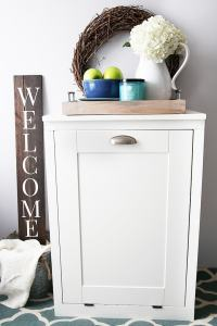 How to Build a Custom Tilt-Out Trash Cabinet | Just a Girl ...