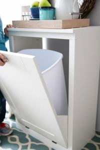 How to Build a Custom Tilt-Out Trash Cabinet - Just a Girl ...