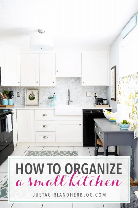 small kitchens wood kitchen island how to organize a just girl and her blog awesome tips tricks for organizing proof that