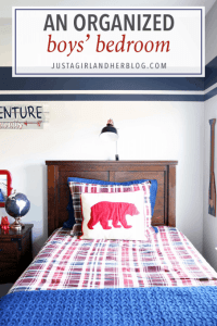 An Organized Boys' Bedroom - Just a Girl and Her Blog