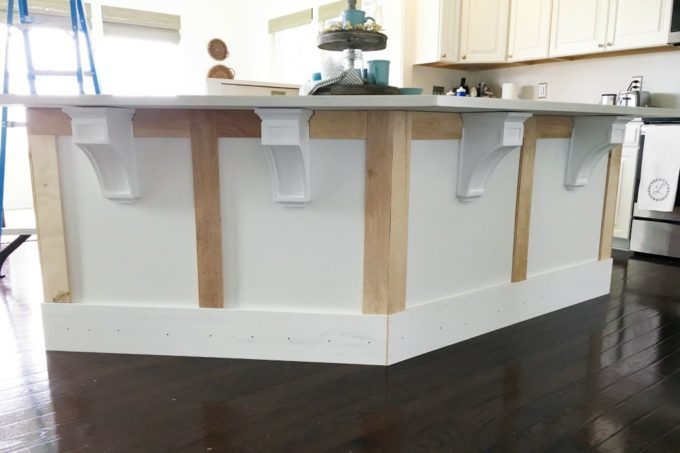 kitchen trim accessories store how to add custom a island just girl and her blog diy craftsman wood corbels install