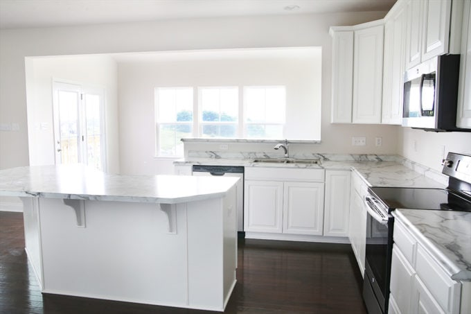 kitchen trim island with dishwasher how to add custom a just girl and her blog diy craftsman wood corbels install