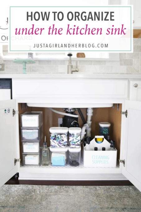 How to Organize Under the Kitchen Sink  Abby Lawson