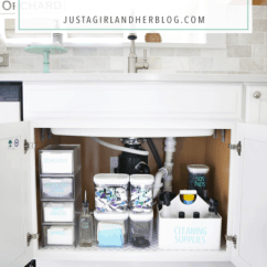 Under Kitchen Sink Organizer Best Small Appliances How To Organize The Just A Girl And Her Blog Home Organization Organized