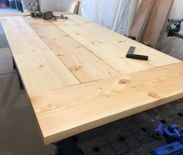 Diy Farmhouse Table Build Truss Beam Table Outdoor Table Woodworking Project Table Construction How To Build An Outdoor Farmhouse Table Ana White