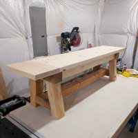 DIY Truss Beam Farmhouse Style Outdoor Table and Benches ...