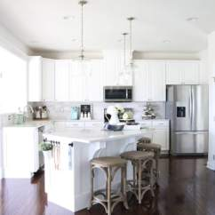 Kitchen Lanterns Decorating Ideas On A Budget Our Big Light Swap Just Girl And Her Blog Home Island Pendant Lights Hallway Changing Fixtures