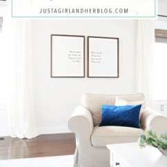 Diy Canvas Art For Living Room Wall Decor Ideas Pinterest How To Make Large Framed Just A Girl And Her Blog