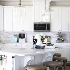 Kitchen Island Pendant Lights Custom Hoods Our Big Light Swap Just A Girl And Her Blog Home Hallway Lanterns Changing Fixtures
