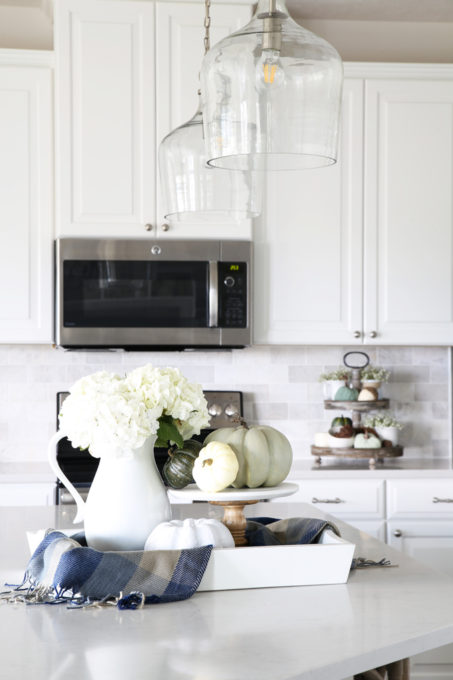kitchen lanterns faucet filter system our big light swap just a girl and her blog home island pendant lights hallway changing fixtures
