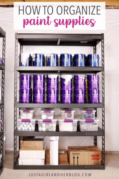 How To Organize Paint Supplies Abby Lawson