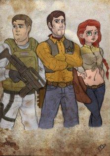 Buzz, Woody, and Jessie