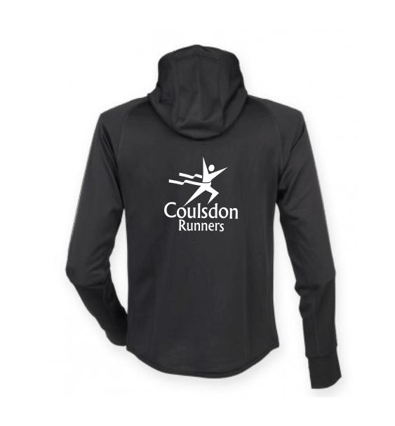 coulsdon runners hoodie jacket black back
