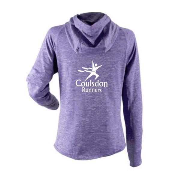 coulsdon runners hoodie jacket purple back