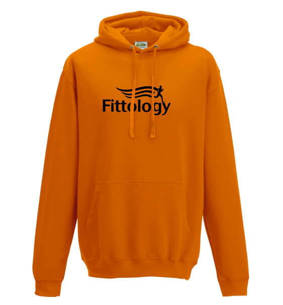 fittology orange hoodie