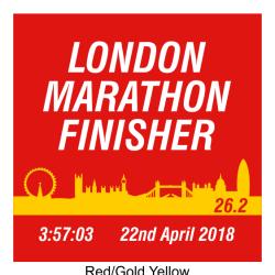 Coasters London Marathon Finisher Skyline