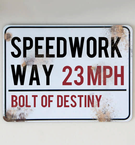 metal street sign custom running 1