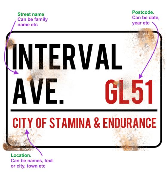 metal street sign custom running 6
