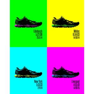 Runners pop art print