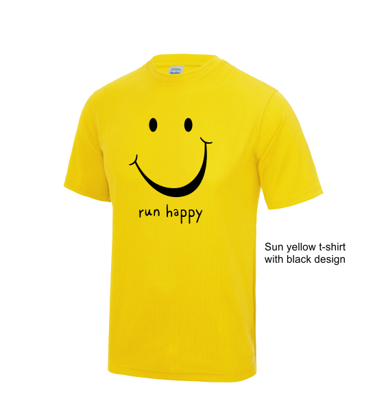run happy mens tshirt