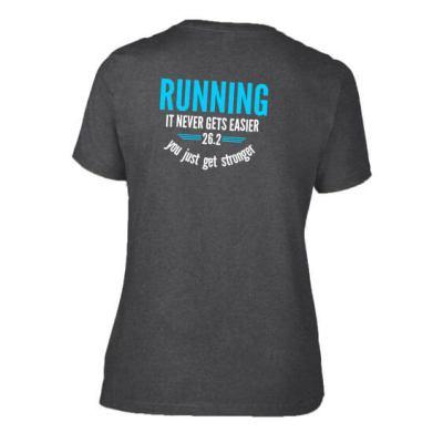 Running never gets easier ladies