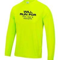 Mens long sleeve Running top will run for