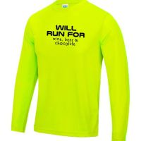 Mens long sleeve Running top will run for