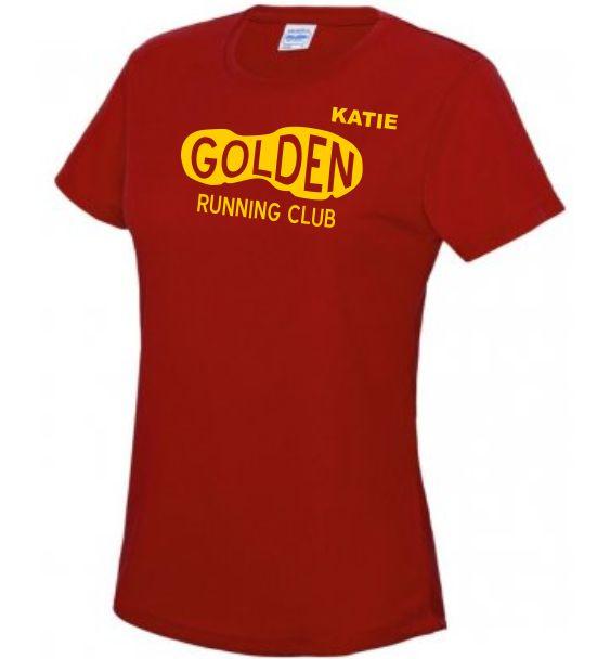 club t-shirt ladies red