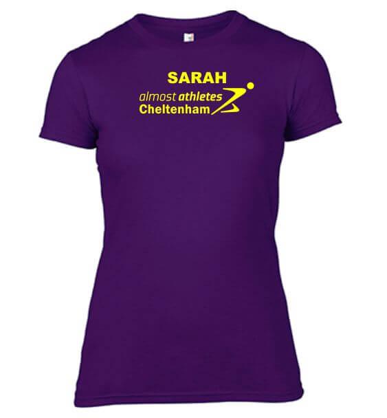 aa tshirt ladies purple name