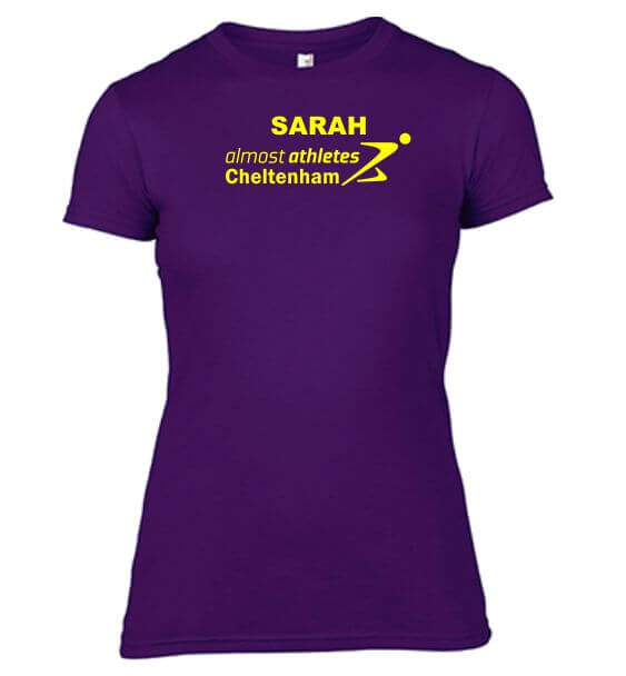 aa tshirt ladies purple name