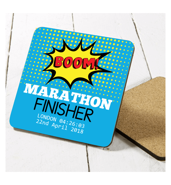 london marathon finisher coaster boom 1