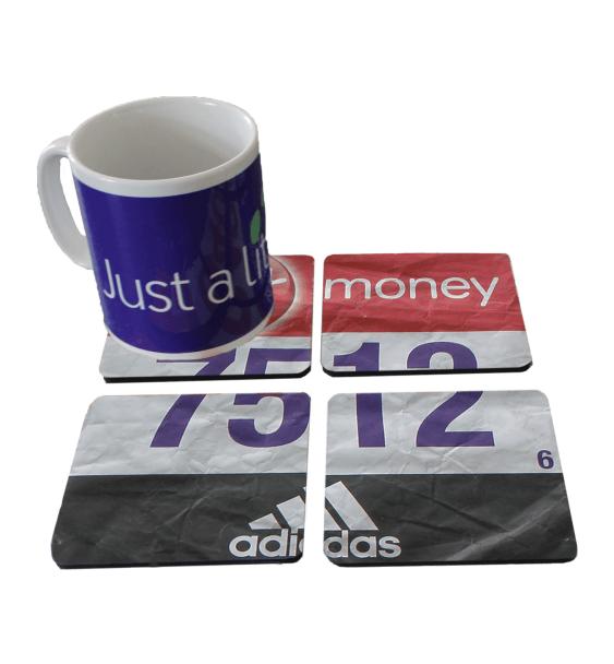 london marathon finisher coaster race number 4
