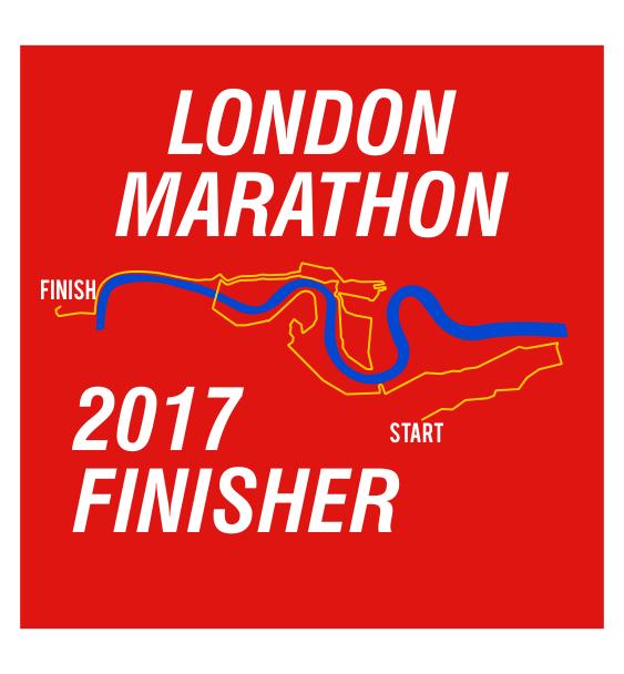 london marathon finisher coaster route red